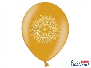 Balon 30cm, IHS, Metallic Gold, 1 szt.