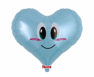 "Balon Ibrex Hel, serce Jelly 14"", Smile Angel PL Blue"